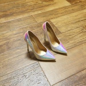 Iridescent Shoe Republic LA heels